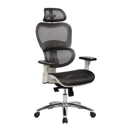 Techni Mobili High-Back Mesh Executive Chair w/Neck Support