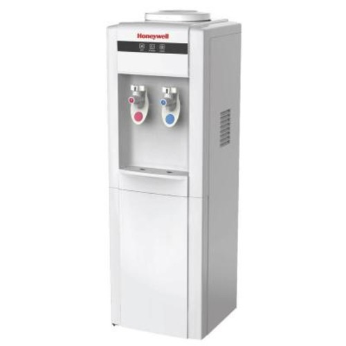 Honeywell Freestanding Top-Loading Hot/Cold Water Dispenser with Cabinet and Thermostat Control in White