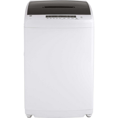 GE GNW128SSMWW Space-Saving 2.8 DOE cu. ft. Capacity Stationary Washer with Stainless Steel Basket