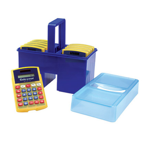 Learning Resources Calc-U-Tote With 10 Calc-U-Vues Calculators, LER0057