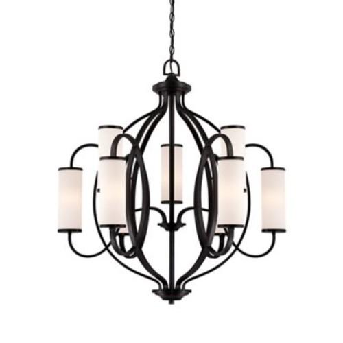 Designers Fountain Bellemeade 9-Light Shaded Chandelier