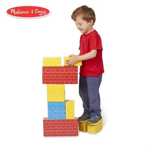 Melissa & Doug Extra-Thick Cardboard Building Blocks - 24 Blocks in 3 Sizes [24 Piece]