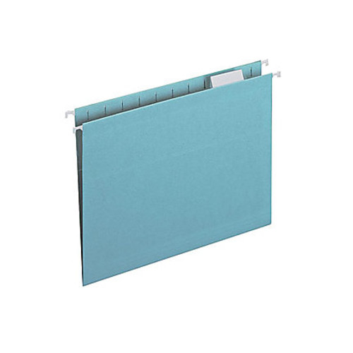 Smead Colored Hanging Folders with Tabs - Letter - 8 1/2