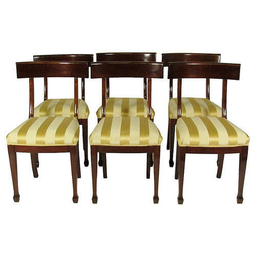 Regency Dining Chairs, S/6