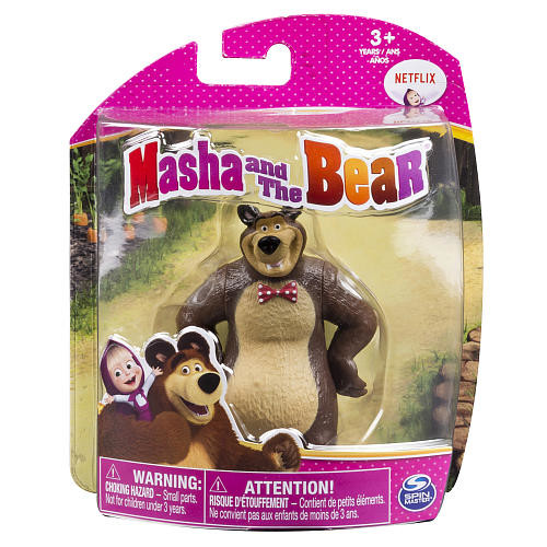 Masha and The Bear 4 inch Collectible Figure - Bear with Bowtie