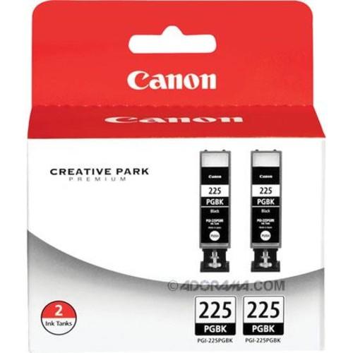 Canon PGI-225 Pigment Black Ink Tank, Twin Pack W/Canon PGI-225 Black/ 3 CLI-226