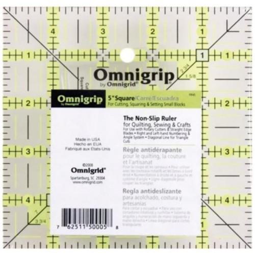Dritz RN5 Omnigrip Non-Slip Quilters Ruler-5 in. x 5 in.