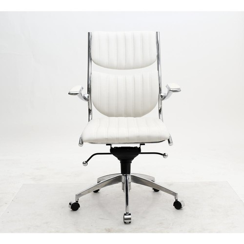 Manhattan Comfort Ergonomic High Back Verdi White Office Chair