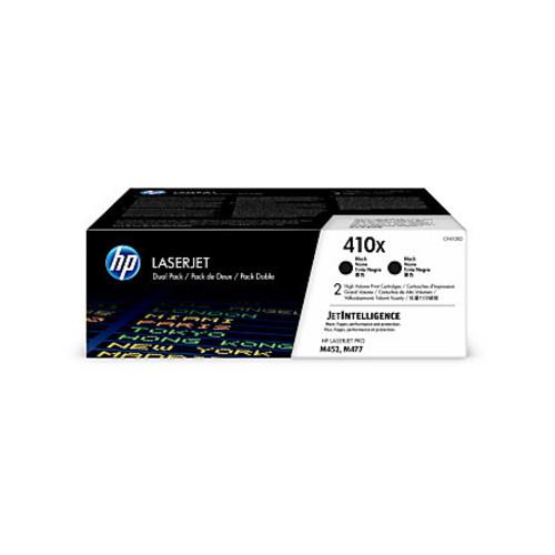 HP 410X High-Yield Black Toner Cartridges (CF410XD), Pack Of 2