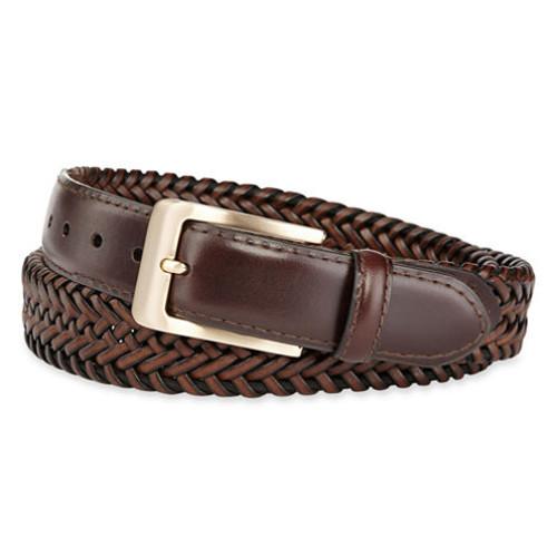 Stafford Leather Braided Belt