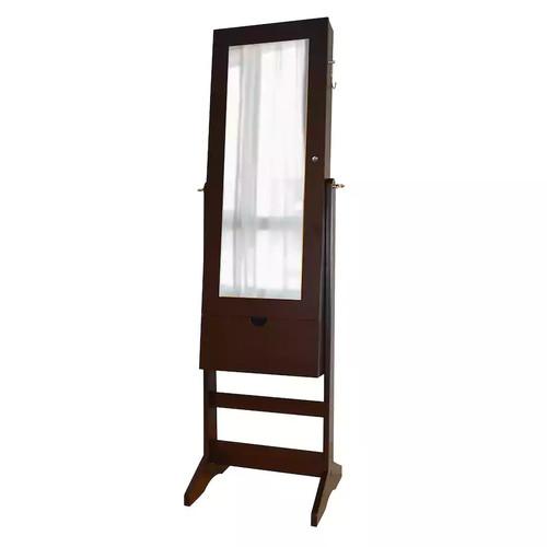 View Wall, Floor & Over-The-Door 3-in-1 Mirror Jewelry Cabinet