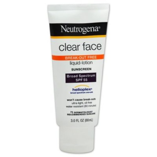Neutrogena 3 oz. Clear Face Liquid Lotion Sunscreen SPF 55