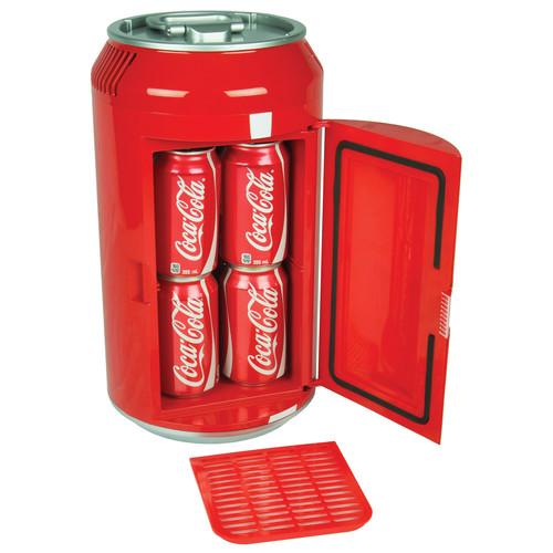 Coca-Cola - Mini Can 0.24 Cu. Ft. Mini Fridge - Red