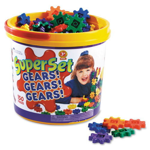 Learning Resources Gears! Gears! Gears! Super Set Construction Set 150 Pieces