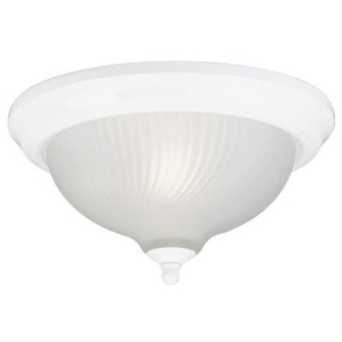 Westinghouse 2-Light Ceiling Fixture White Interior Flush-Mount with Frosted Swirl Glass