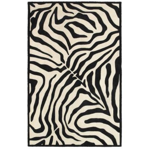 LR Resources Fashion Black/Cream 8 ft. x 10 ft. Luxurious Indoor Area Rug