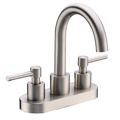 Cadell 2040001 Centerset Bathroom Faucet [option : Brushed Nickel Without Drain]