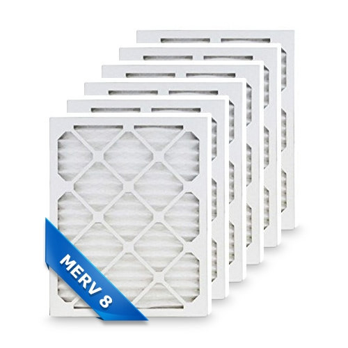 Replacement Pleated Air Filter for 12x20x1 Merv 8 (6-Pack)