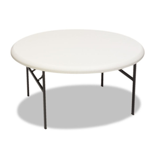 Iceberg IndestrucTable TOO 1200 Series Resin Round 60-inch Platinum Folding Table