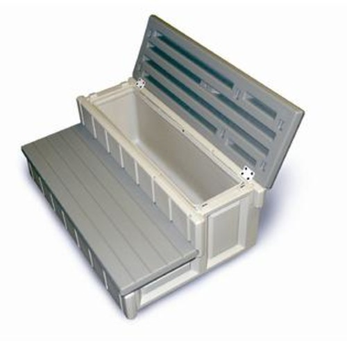 Confer Plastics Spa Step with Storage in Gray