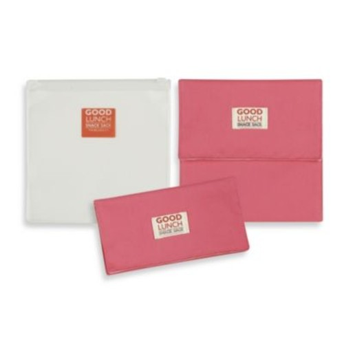 Sugarbooger by o.r.e Good Lunch Set of 3 Snack Sack in Pink Punch