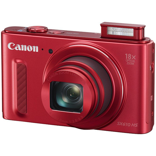 Canon PowerShot SX610 HS (Red) 20.2-megapixel digital camera with Wi-Fi and 18X optical zoom