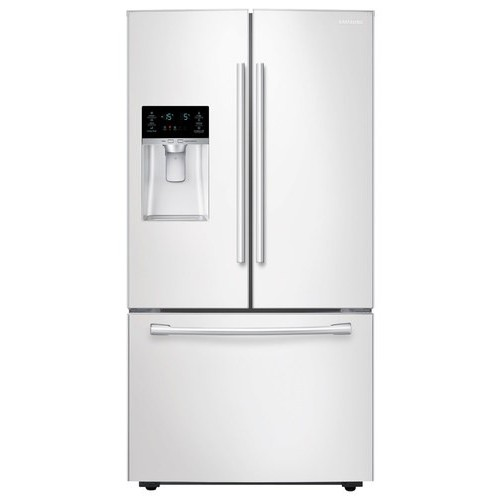 Samsung - 28.1 Cu. Ft. French Door Refrigerator with Thru-the-Door Ice and Water - White