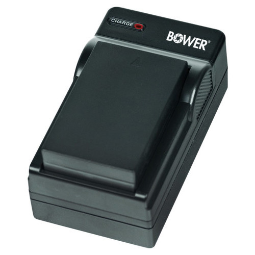 Bower - Battery Charger for GoPro ADHBT-401 with DC Charger & EU Plug - Black