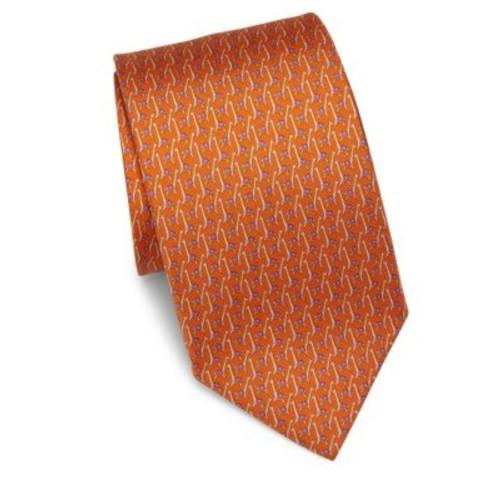 SALVATORE FERRAGAMO Giraffe Silk Tie