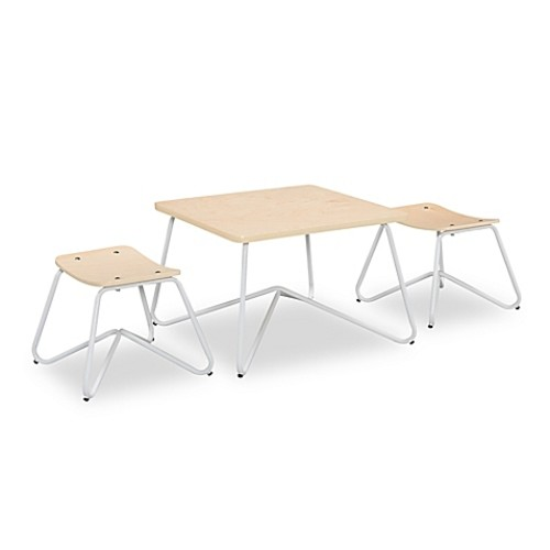 Kellan Kids Table with Stools in White (Set of 3)