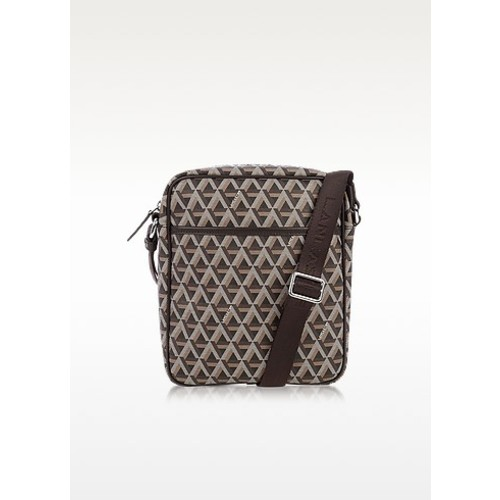 Ikon Brown Coated Canvas Men's Crossbody Bag