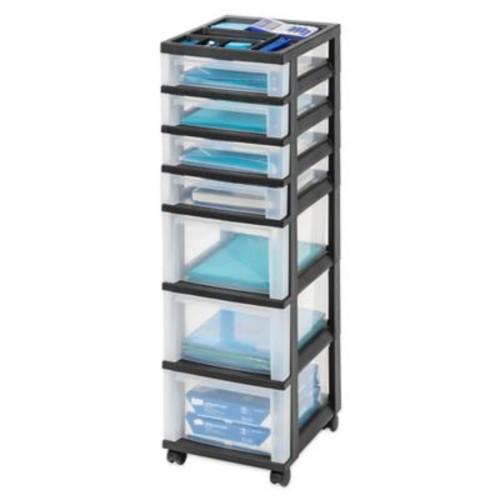 IRIS 7-Drawer Storage Cart in Black