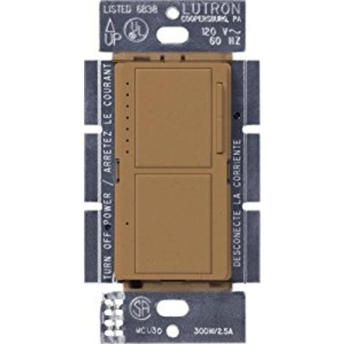 Lutron MA-L3S25-TC Maestro 300-Watt Single-Pole Digital Dimmer and 2.5 Amp On/Off Switch, Terracotta [Terracotta]
