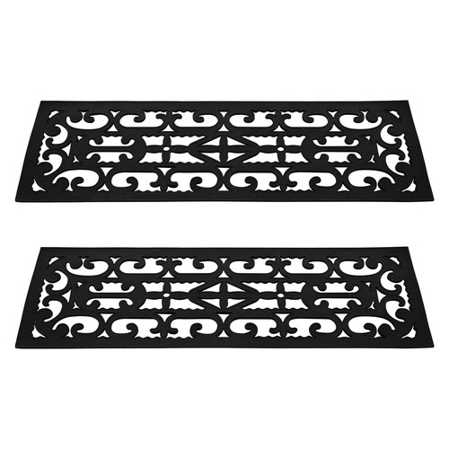 Pure Garden Non-Slip Stair Tread Mats 2 Piece