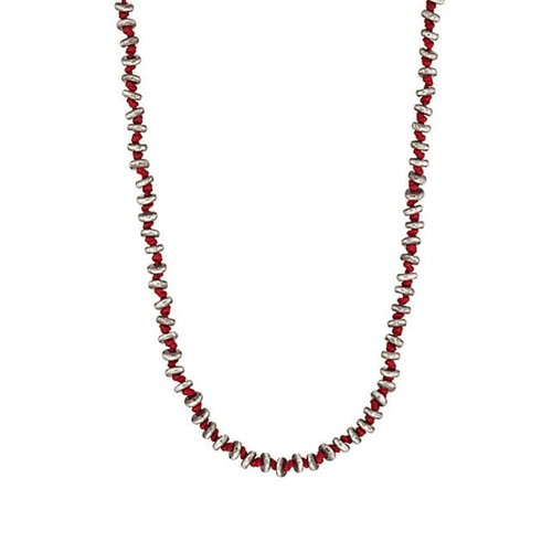 M. Cohen Sterling Silver Rondelles On Cord Necklace