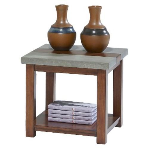 Cascade End Table - Nutmeg Birch/Gray - Progressive Furniture