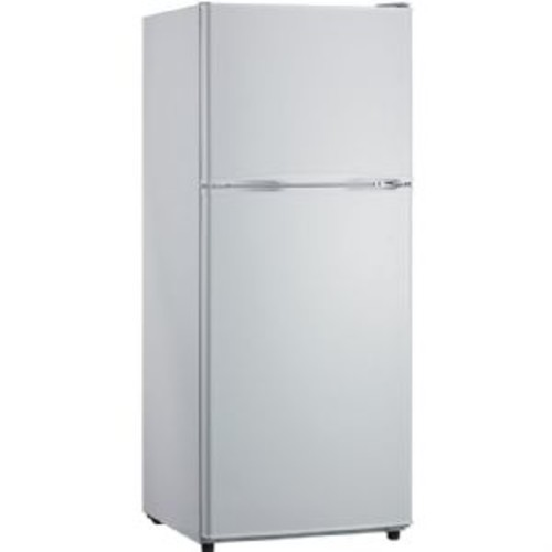 Hanover's HANRT12CW Energy Star refrigerator with top-mount freezer has a combined capacity of 11.5 cu. ft. and is frost-free. The 2.8 cu. ft. capacity top-mount freezer has a wire shelf plus 2 racks