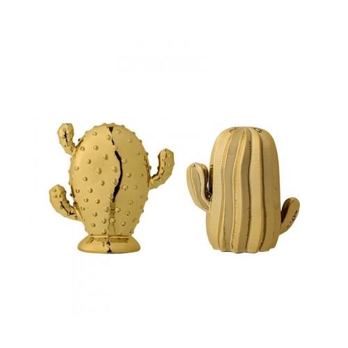 Ceramic Cactus, Gold (Set of 2)