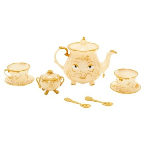 Disney Beauty and the Beast Enchanted Objects Tea Set