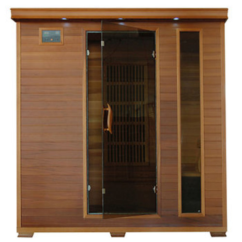 Radiant 4-Person Cedar Infrared Sauna with 9 Carbon Heaters