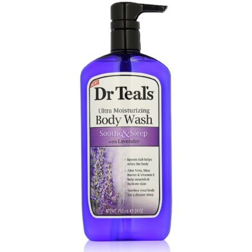Dr Teal's Ultra Moisturizing Body Wash, Soothe & Sleep with Lavender 24 oz (Pack of 6)