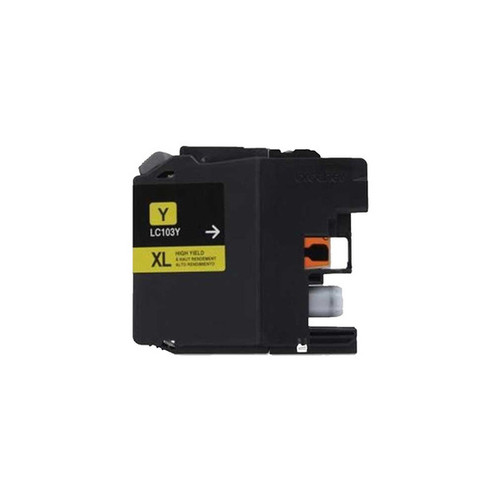 Brother LC103 Yellow Compatible Ink Cartridge (Remanufactured)