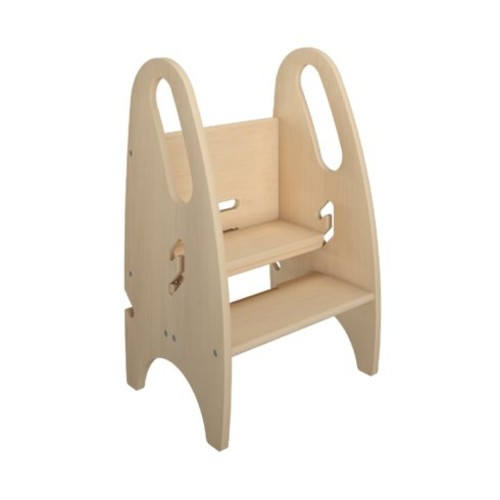 2-Step Wood Kids Growing Step Stool with 250 lb. Load Capacity