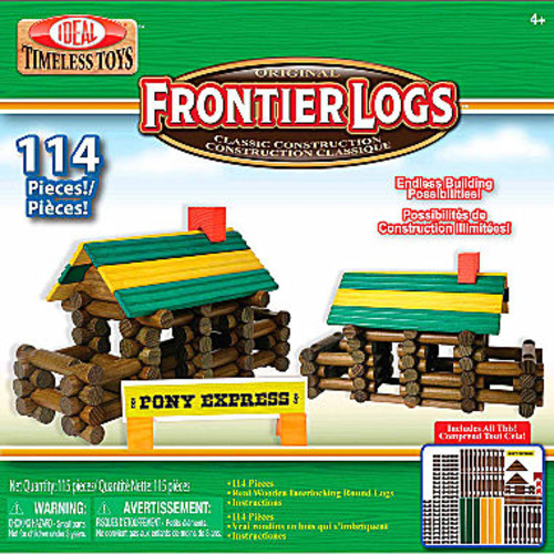 Ideal Frontier Logs Classic All Wood 114 Piece Discovery Toy