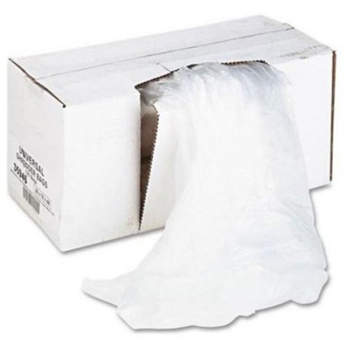 UNIVERSAL OFFICE PRODUCTS 35946 High-density Shredder Bags, 26w X 18d X 48h, 100 Bags/carton, Clear