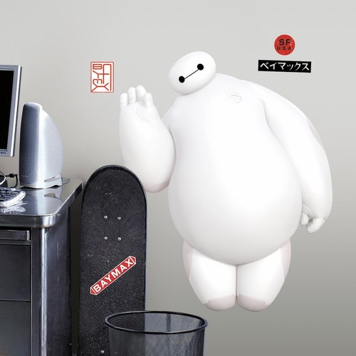 Big Hero 6 White Baymax Peel and Stick Giant Wall Decals