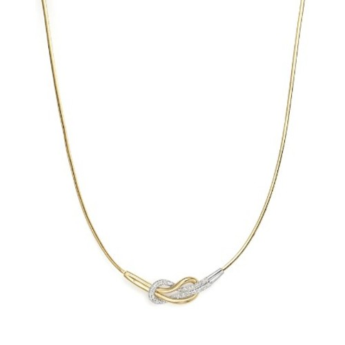 Diamond Knot Collar Necklace in 14K Yellow and White Gold, 1.65 ct. t.w. - 100% Exclusive
