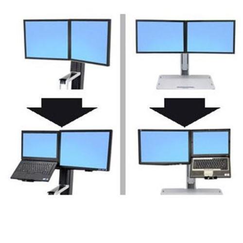 Ergotron WorkFit Convert-to-LCD & Laptop Kit from Dual Displays 97-617