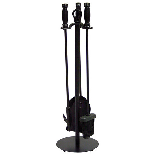 UniFlame - Fireplace Tool Set (4-Piece) - Black