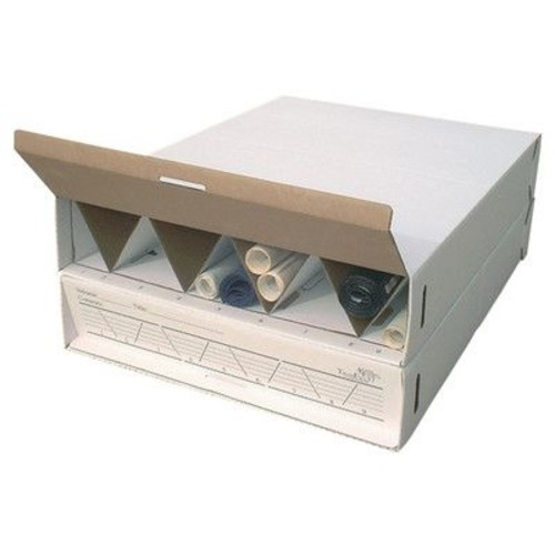 Advanced Organizing Systems Modular Stackable Roll Filing Box (Set of 2); 6.5'' H x 29'' W x 39'' D